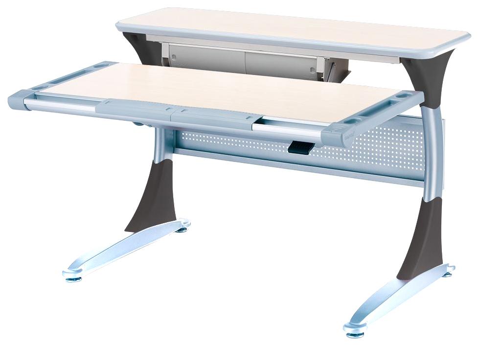 Купить Ученический стол Comf-Pro Гарвард с ящиком 00045-2 Беленый Дуб/Серый, Детские столики