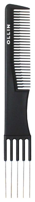 Купить Расческа Ollin Professional Карбоновая с металлической вилкой 19, 2см