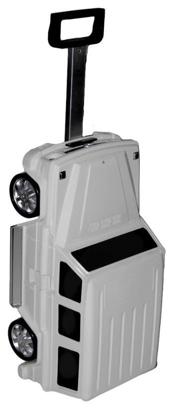 Купить Детский чемодан Mercedes-Benz Gelandewagen 50х25х21см. Белый 2 кг, Ridaz, Детские чемоданы