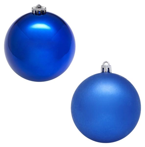 Новогодний шар Snowmen 18 см Е70244 Синий