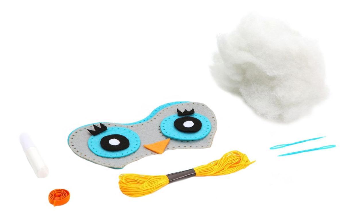 Купить Набор для творчества Bondibon мк маска из фетра. сова,