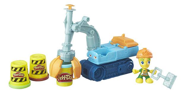 Купить Пластилин Hasbro Play-Doh Play-Doh B6283 Экскаватор, Наборы для лепки Play-Doh
