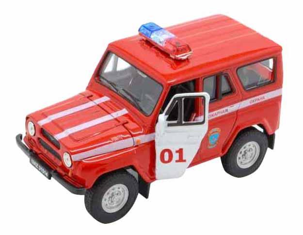 Машинка инерционная Welly 42380FS Модель машины 1:34-39 УАЗ 31514 Пожарная охрана