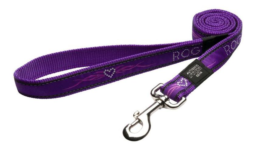 Поводок для собак Rogz Fancy Dress XL-25мм 1,2 м (Фиолетовое сердце HL02BJ)