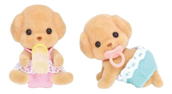 Купить Пудели двойняшки, Игровой набор EPOCH Sylvanian Families Пудели двойняшки, Игровые наборы