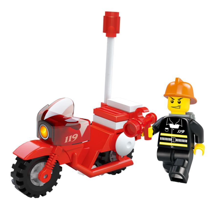 Конструктор пластиковый Sluban Пожарный мотоцикл