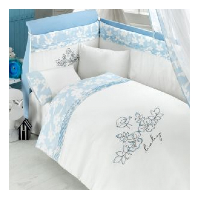 Комплект детского постельного белья Bebe Luvicci Baby Birdie 3 предмета