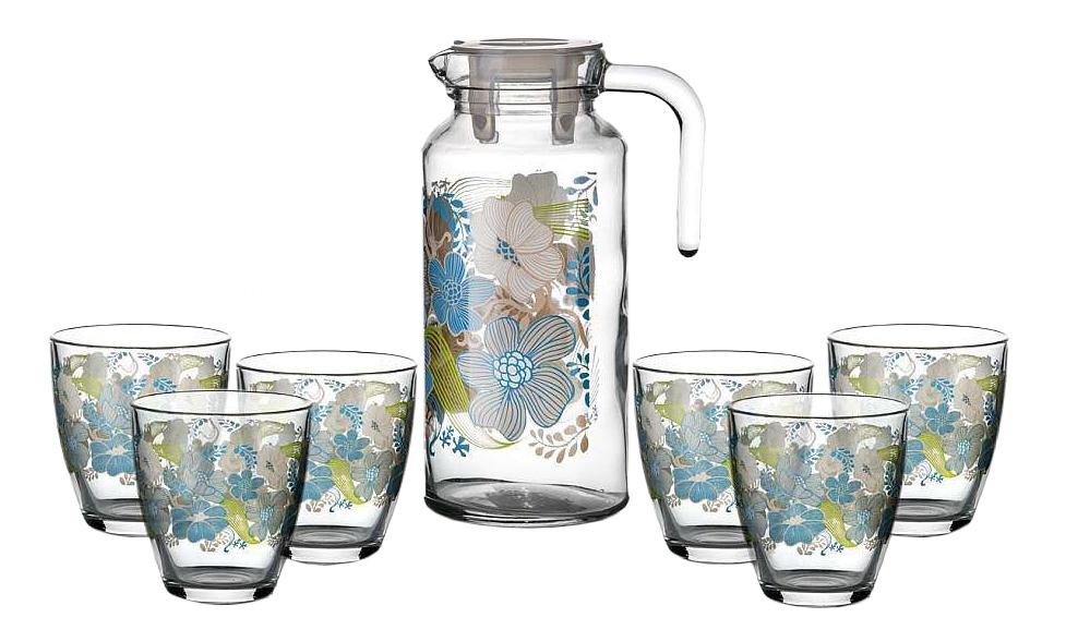 Набор стаканов и кувшин Pasabahce Blue Dream