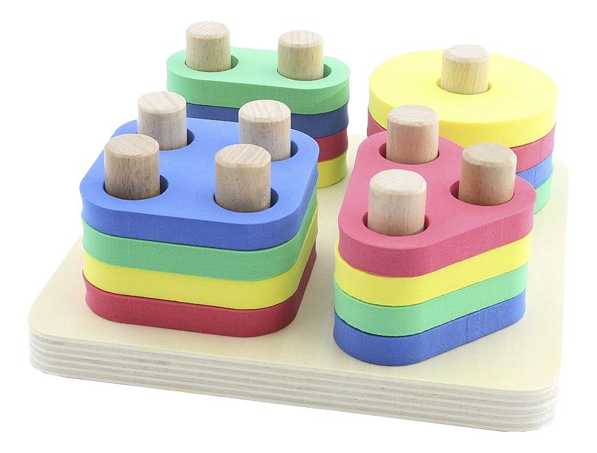 Деревянная игрушка для малышей Мир Деревянных Игрушек Логический квадрат фото