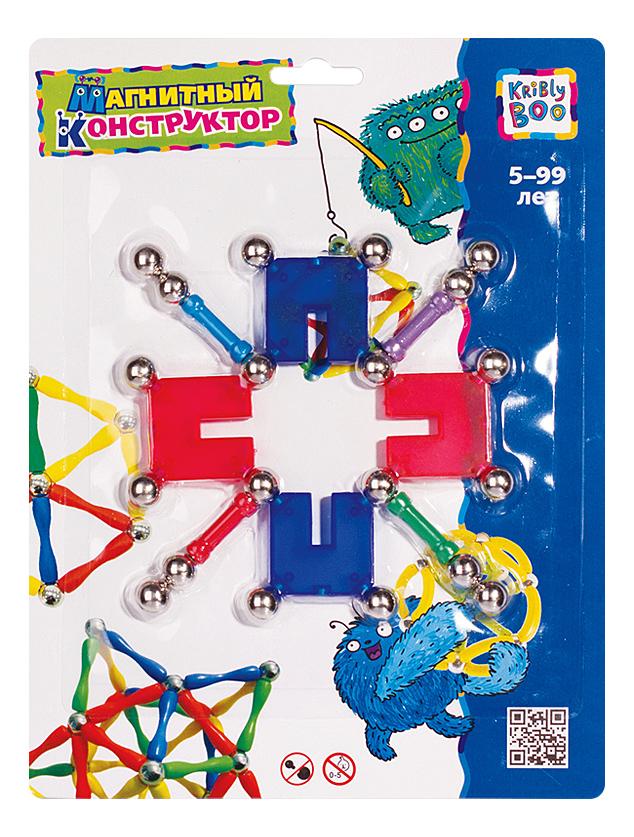 Купить Конструктор магнитный Kribly Boo Волшебное притяжение Снежинка, Магнитные конструкторы
