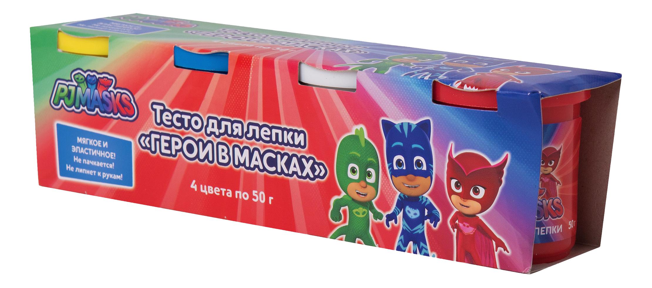 Купить Паста для лепки PJ Masks 4 цвета, Росмэн, Лепка