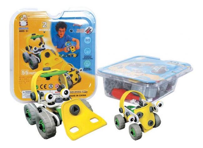 Купить Конструктор build and play трактор и машина Г51143, Конструктор Build And Play Трактор и машина Shenzhen Toys Г51143, Конструкторы пластмассовые