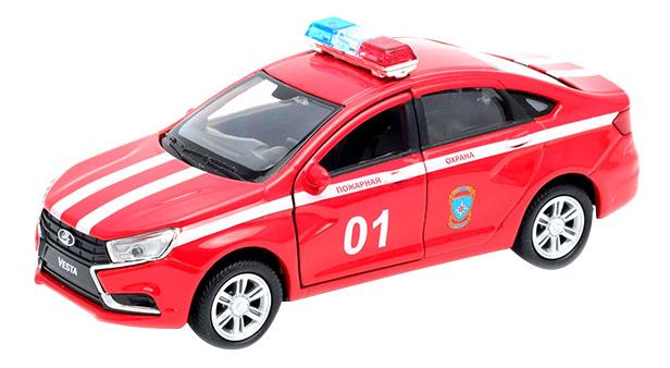 Купить LADA Vesta Пожарная охрана , Модель машины Welly 1:34-39 LADA Vesta Пожарная охрана 43727FS, Спецслужбы