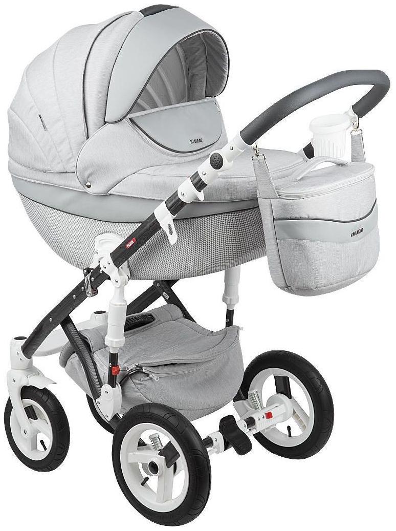 Купить Коляска 3 в 1 Adamex Monte Carbon Серая GL000573098, Детские коляски 3 в 1