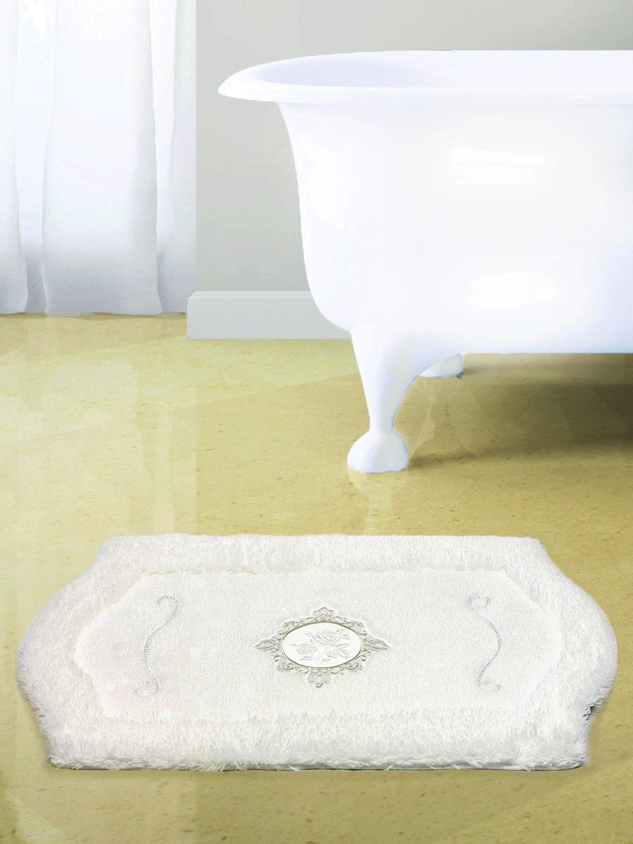 Ковер для ванной 60х100(белый) Royal акрил