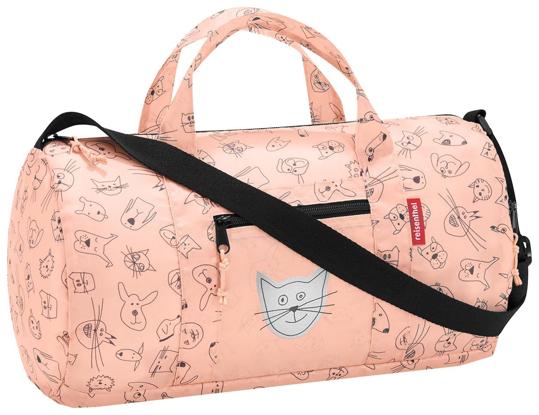 Купить Сумка детская складная dufflebag cats and dogs rose Reisenthel для девочек Розовый IH3064, Детские сумки