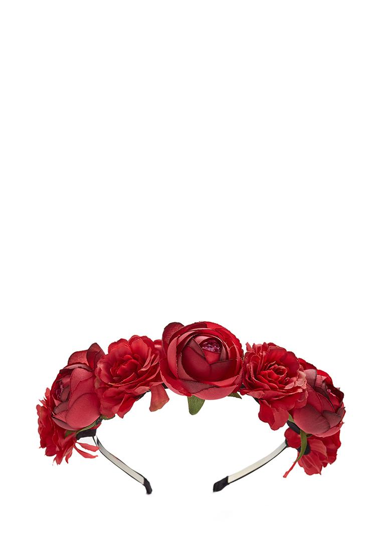 Ободок с пионами и розами
