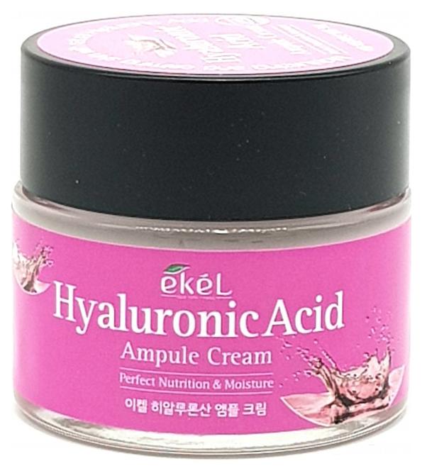 Купить Крем для лица Ekel Hyaluronic Acid Ampule Cream 70 мл