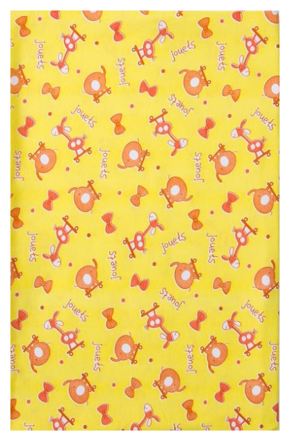 Пеленка для детей Детская линия, цв. желтый 90 х120 см