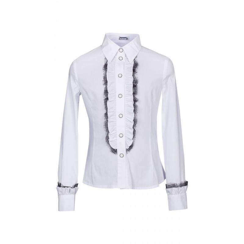 Купить ШФ-700, Блузка SkyLake, цв. белый, 42 р-р, Детские блузки, рубашки, туники