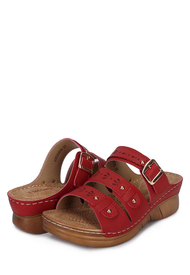 Сабо женские T.Taccardi A663-6AK красные 40 RU