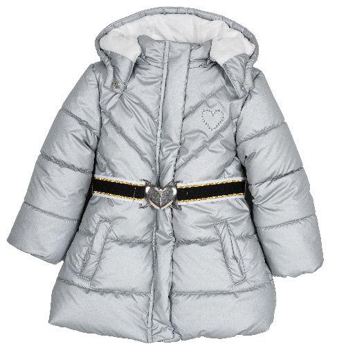 9087461, Куртка Chicco для девочек р.128 цв.светло-серый,  - купить со скидкой