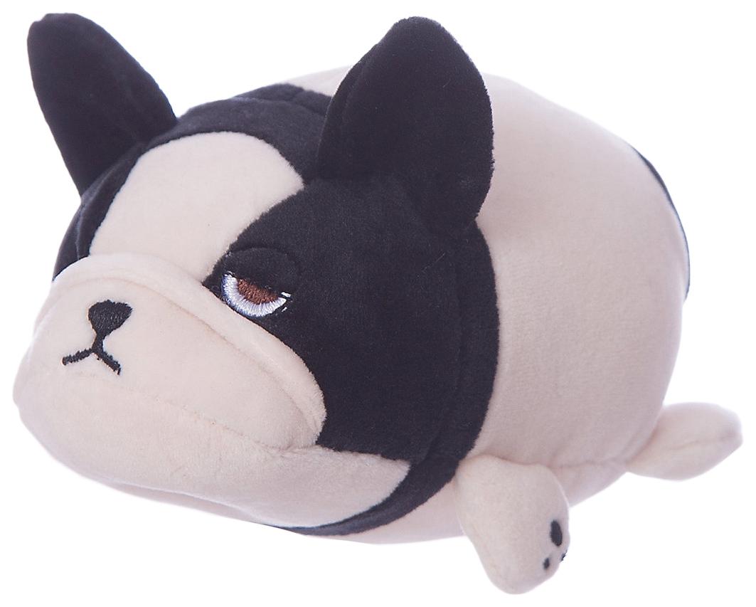 Купить Собачка розовая с черным, 13 см игрушка мягкая, ABtoys,
