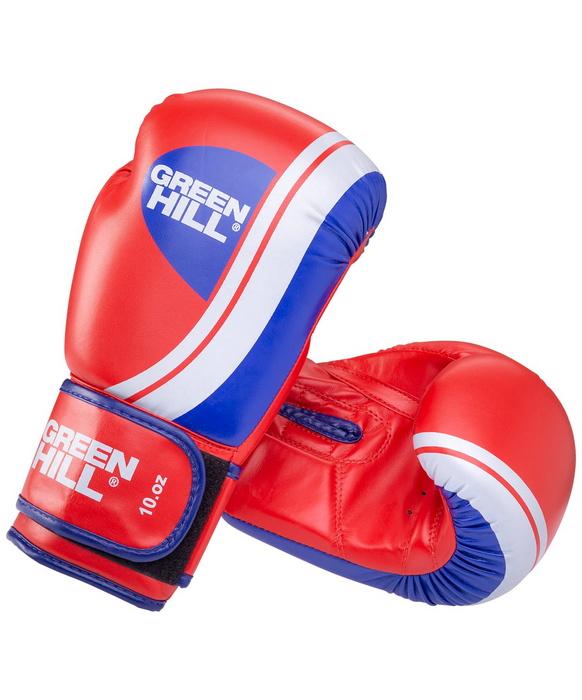 Боксерские перчатки Green Hill Knockout красные/синие