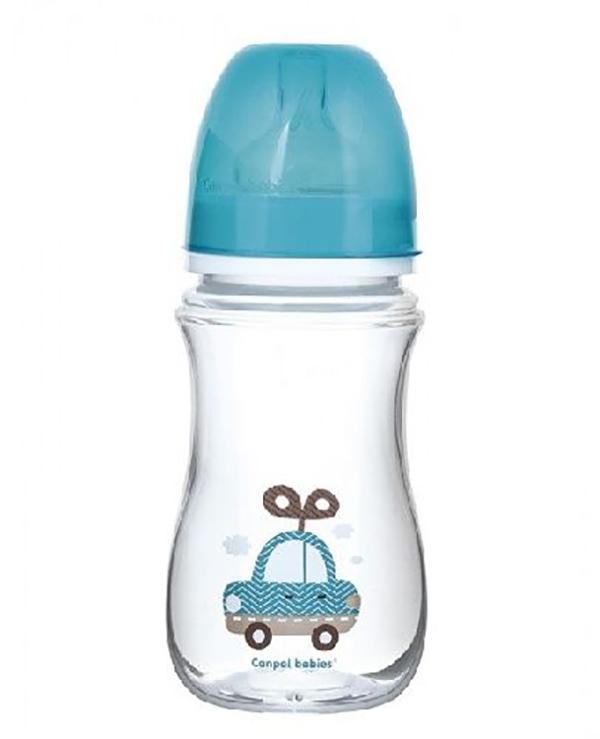 Бутылочка Canpol EasyStart Toys шир. горл., антикол., 240 мл, 3 мес.+, голубая