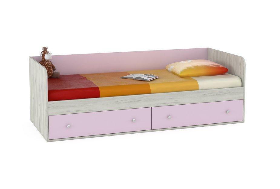 Детская кровать Моби Тетрис 1 347 М кровать Дуб Белый CRAFT / Лаванда BSBS1