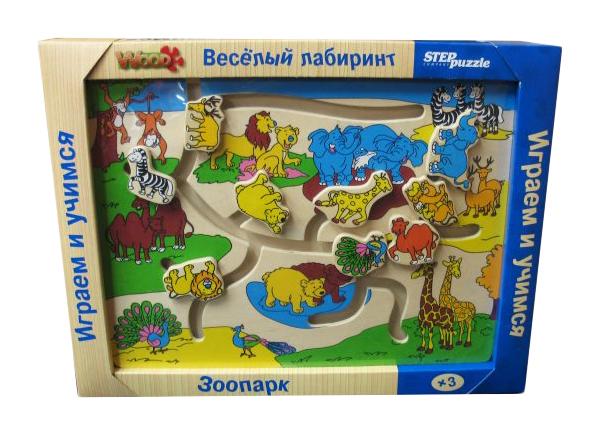 Купить Игра Веселый лабиринт. Зоопарк , Step Puzzle, Дидактические игры