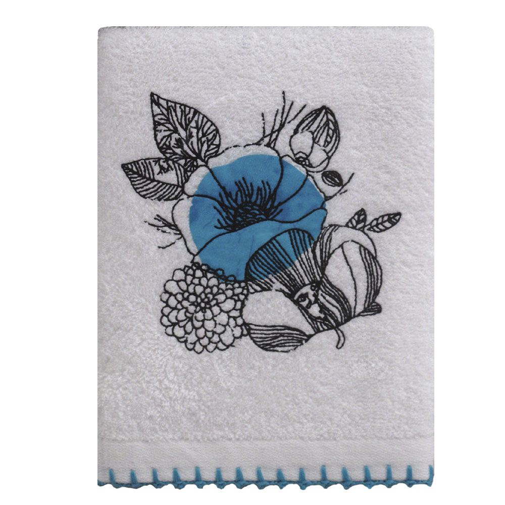 Allegro Кухонное полотенце Blair Цвет: Белый, Голубой (50х70 см) фото
