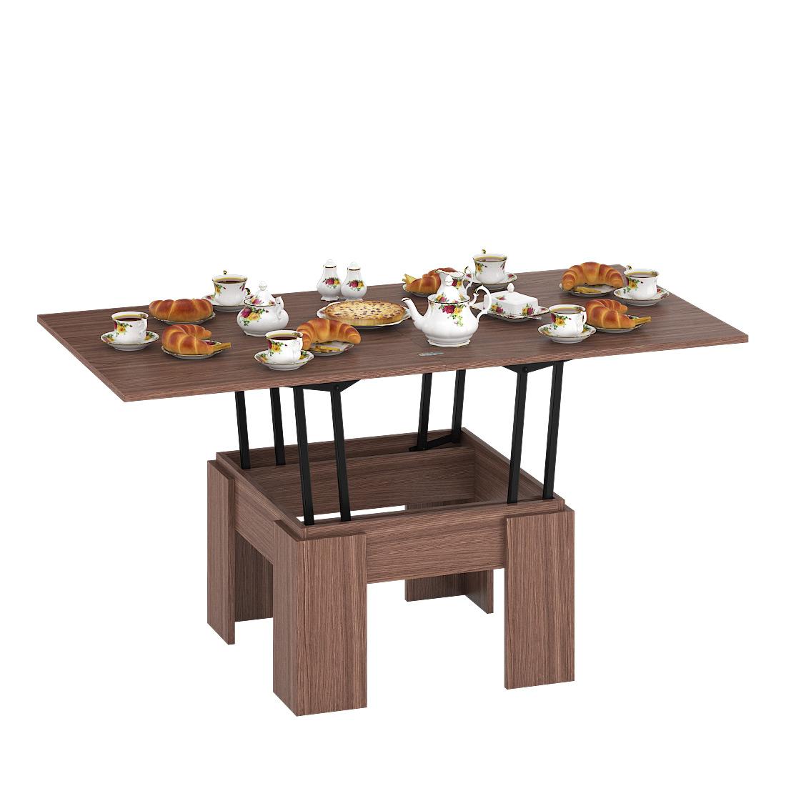 Журнальный столик Delice Бета 1668004 80(160)х80х47,5(81,5)