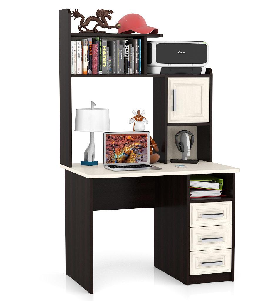 Компьютерный стол Мебельный Двор СК-7 МД-СК-8 102x70x177, дуб/венге