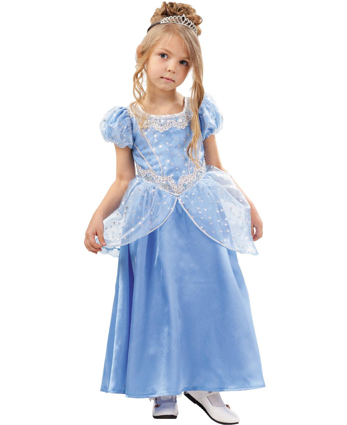 Купить 2021, Карнавальный костюм Батик Золушка, цв. голубой р.134,