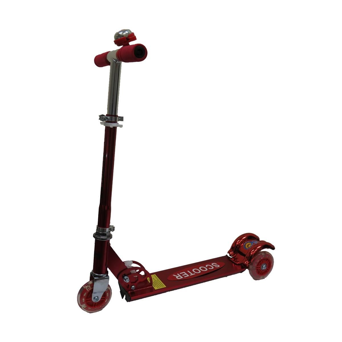 Самокат Scooter 3-х колесный,красный