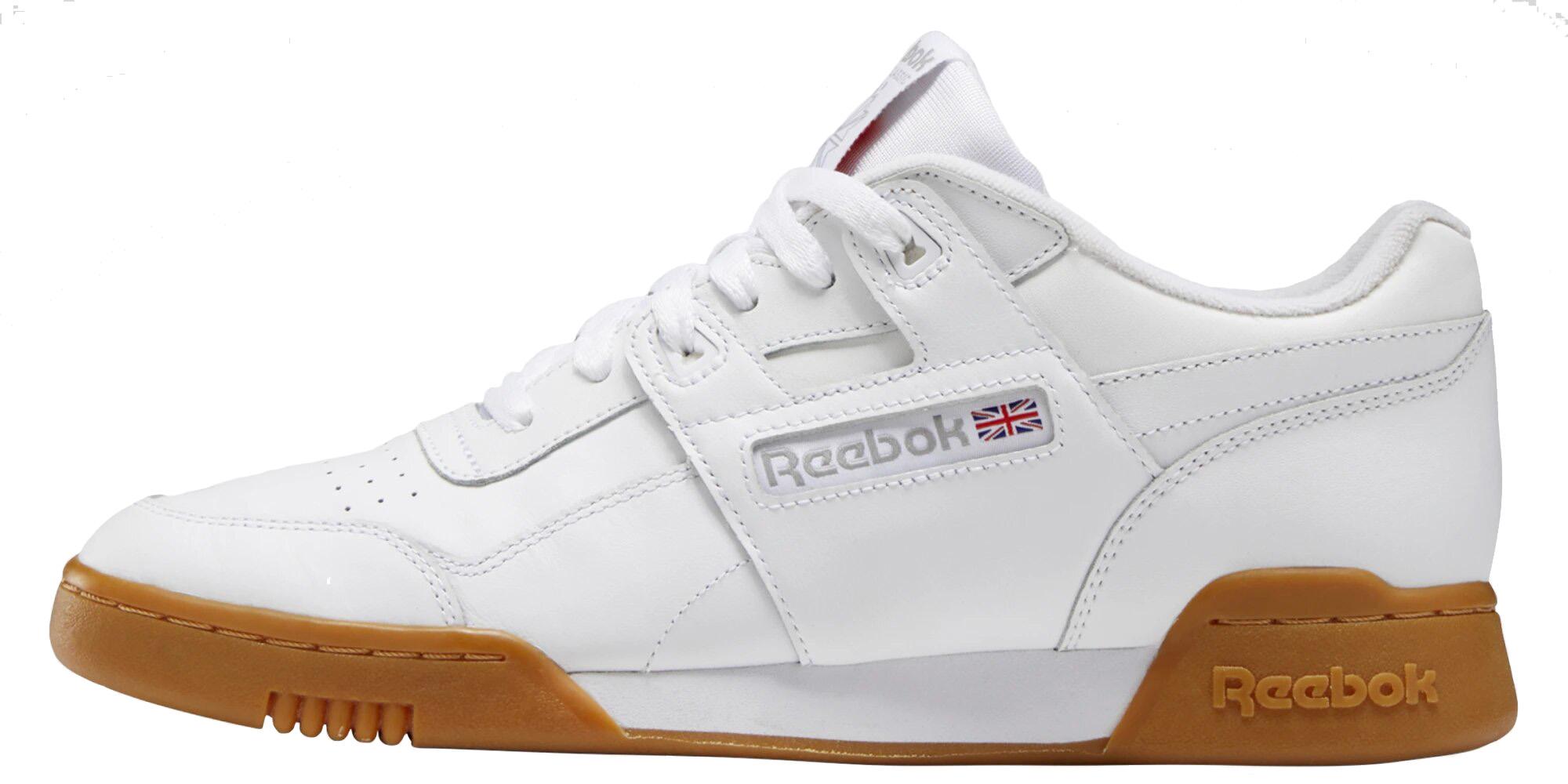 Кроссовки Reebok Workout Plus, white/white/carbon/classic red/reebok royal-gym, 7.5 US фото