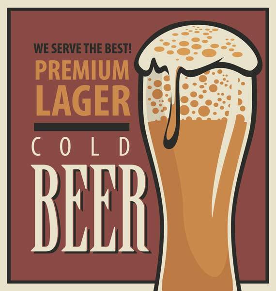 Картина на холсте 50x70 Cold beer Ekoramka HE-101-430