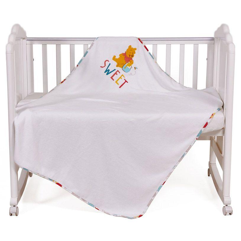 Купить Плед детский Polini kids Disney baby Медвежонок Винни Чудесный день, разноцветный, Пледы для новорожденных
