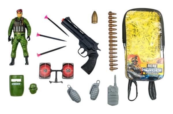 Игровой Набор Junfa Toys Военный Wg-A7090 В Рюкзачке 14 Предметов