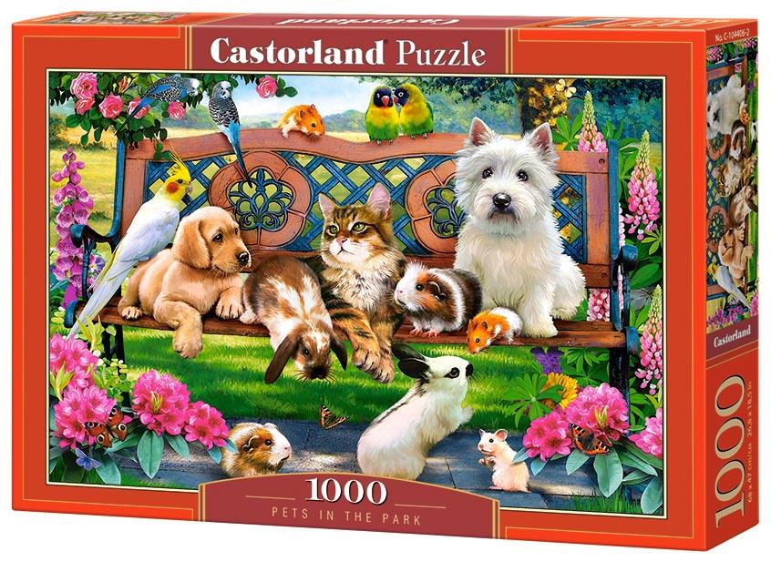 Пазл Castorland 1000 деталей Домашние животные в парке C-104406