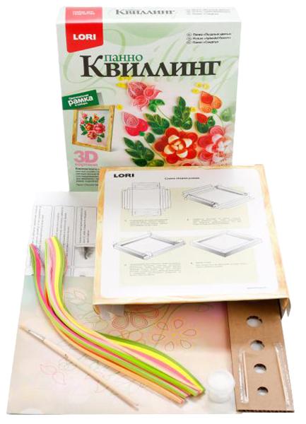 Купить Поделка LORI Квиллинг Панно Пышные Цветы КВЛ-011, Рукоделие