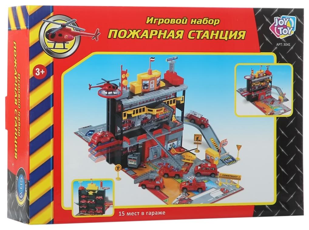 Игровой набор Play Smart C326-H06016 Пожарная станция гараж с машинками и аксессуарами