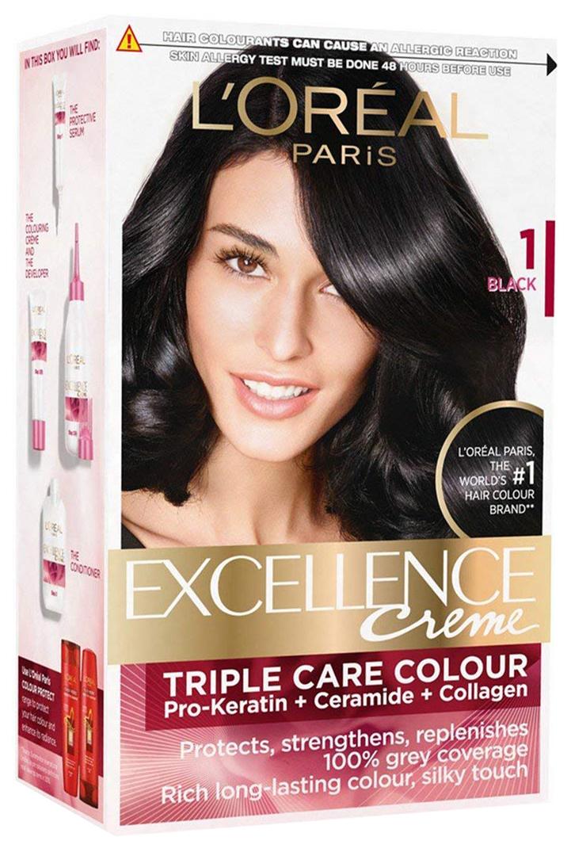Краска для волос L\'Oreal Paris Excellence Creme 1.00 Black 270 мл