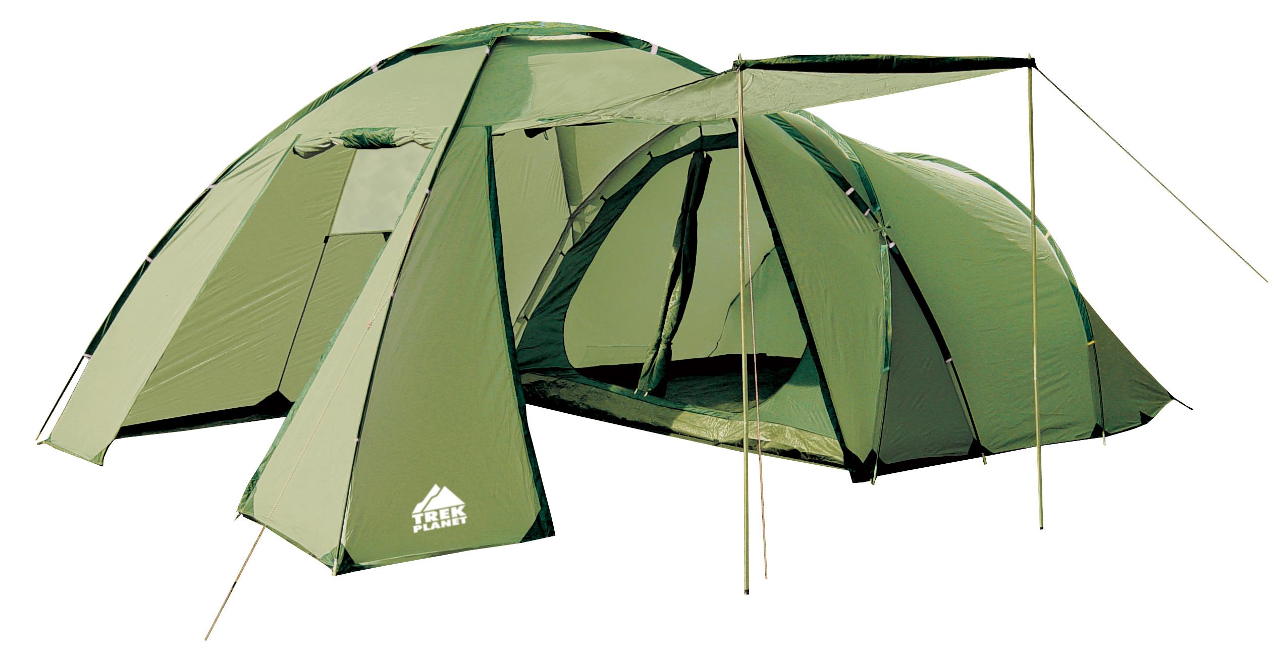 Палатка Trek Planet Montana четырехместная зеленая