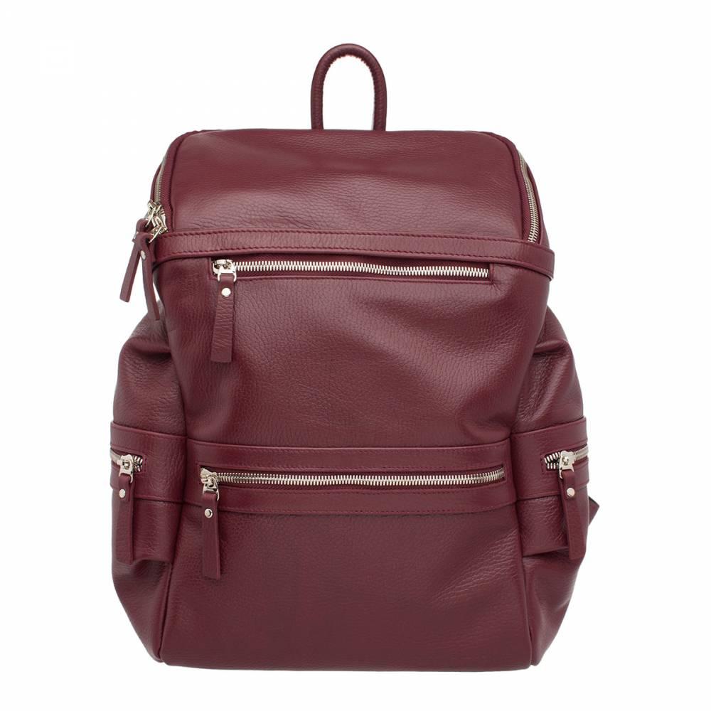 Рюкзак кожаный Lakestone 91244 красный 14 л фото