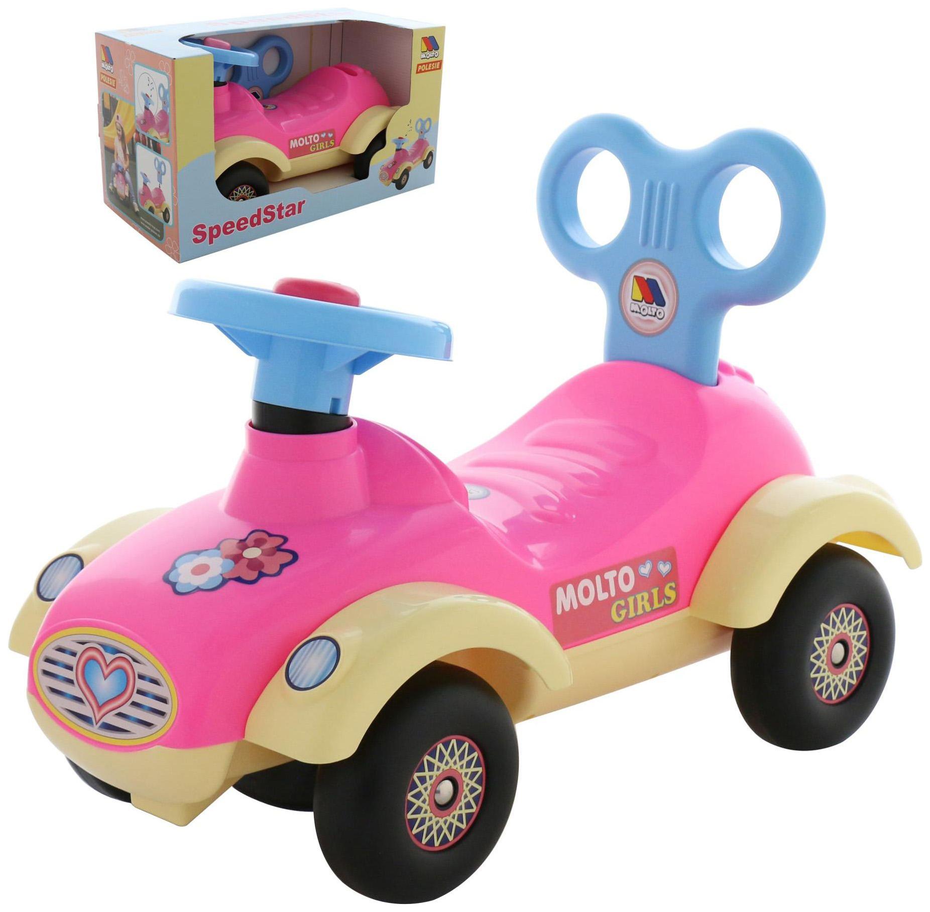 Каталка детская Molto автомобиль для девочек Сабрина