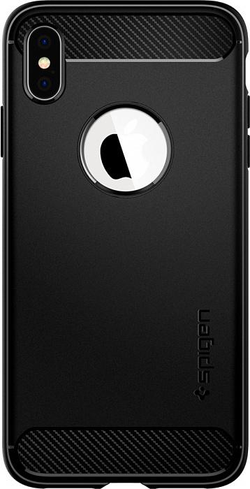 Чехол Spigen Rugged Armor (065CS25125) для iPhone Xs Max (Black)  - купить со скидкой