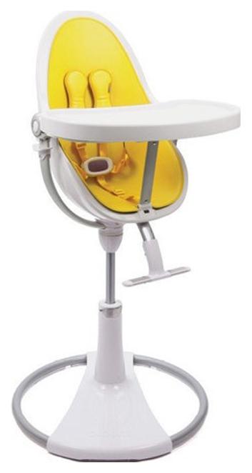 Купить Стульчик для кормления Bloom Fresco Chrome White white, желтый, Стульчики для кормления