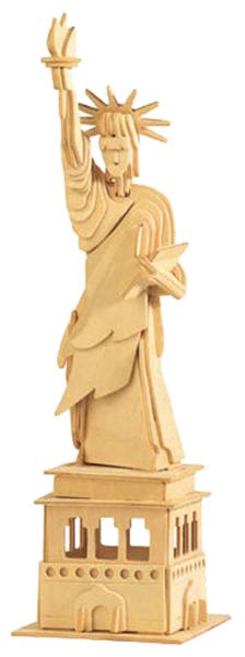 Купить Сборная деревянная модель Wooden Toys Статуя Свободы, Модели для сборки